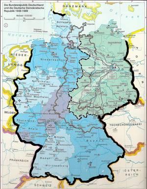 """Abbildung 1: """"Das geteilte Deutschland 1949 bis 1989"""", in: Putzger- Kartenausgabe, 103. Auflage, 1. Druck 2006, S. 190."""