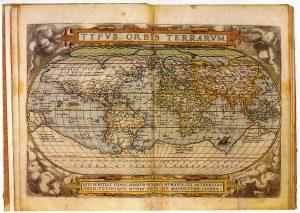 Abbildung 11: Typus orbis terrarum, Theatrum orbis terrarum 1572, Tafel 1 (Ortelius/Schneider 2006).