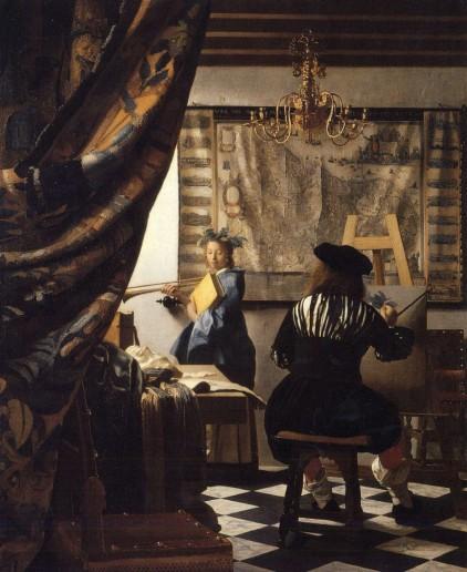 Abbildung 12: Jan Vermeer – Die Malkunst 1656 (Archiv Vf.).