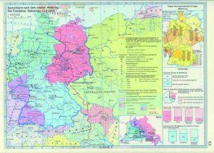 """Abbildung 2: Atlas zur Geschichte, 2. Band, Gotha, Leipzig 1975, S. 63: """"Deutschland nach dem Zweiten Weltkrieg. Das Potsdamer Abkommen (2.8.1945)""""."""