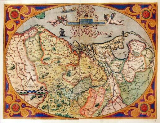 Abbildung 3: Vereinigte Niederlande - Theatrum orbis terrarum, Tafel 14 (Ortelius/Schneider 2006).