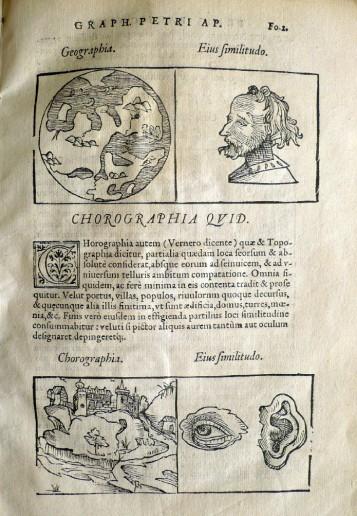 Abbildung 4: Peter Apian - Cosmographicus Liber, Antwerpen 1550.