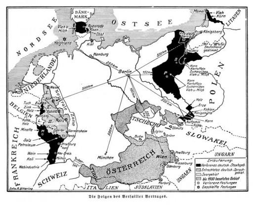 "Abbildung 4: ""Folgen des Versailler Vertrages"" aus: Fischer-Geistbeck 1931:4"