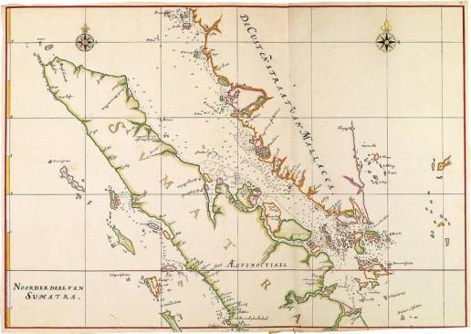 Abbildung 4: Kartenausschnitt aus dem Atlas van der Hem. Kartensammlung der Österreichischen Nationalbibliothek (reproduziert mit Genehmigung der Österreichischen Nationalbibliothek, Bildarchiv).