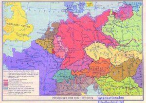 """Abbildung 4: Harms kleiner Geschichtsatlas mit Bildern, München 1961, S. 19: """"Der Imperialismus und seine Folgen""""."""