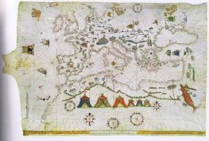 Abbildung 5: Portolankarte des Vesconte de Maggiolo von 1541 (Signatur: F 31).