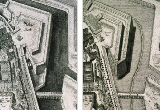 Abbildung 5: Die Scenographie oder Geometrisch Perspect: Abbildung der Kayl: Königl: Haubt: u: Residenz Stadt Wien in Oesterreich von Joseph Daniel von Huber, um 1770.