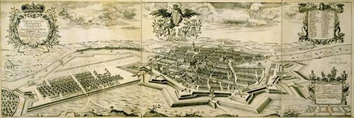 Abbildung 6: Residentia Electoralis Brandenburgica … Plan der Residenzstadt Berlin von Johann Bernhard Schultz aus dem Jahr 1688