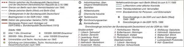 """Abbildung 6: Zeichenerklärung der Putzgerkarte """"Das geteilte Deutschland 1949 bis 1989"""", in: Putzger-Kartenausgabe, 103. Auflage, 1. Druck 2006, S. 190."""