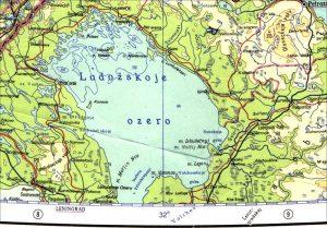 Abbildung 8: Kartenausschnitt aus der Karta Mira von 1967: Die Städte Sestroreck und Salmi liegen falsch östlich des 30°- bzw. des 32°-Meridians.