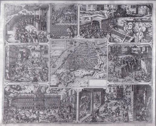 Abbildung 9: Frans Hogenberg - Die Spanische Furie von Antwerpen 1576 (Müller 2003).