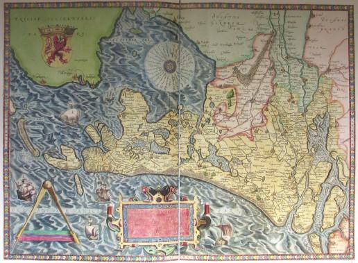 Abbildung 1: Holland, Theatrum orbis terrarum 1572, Tafel 19 (Ortelius/Schneider 2006).