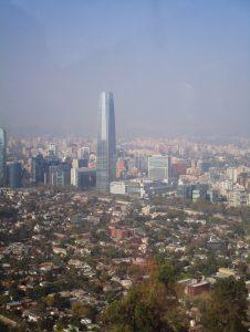 Blick vom Cerro San Cristóbal auf die zukünftige Mega-City Santiago de Chile
